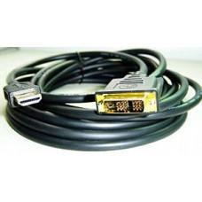 Шнур HDMI шт. - DVI шт.  3 м черный позол. разъемы CC-HDMI-DVI-10