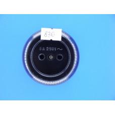 Розетка О/У РА  6-007 круг. черная (карболит) (Ливны) (240 шт.)