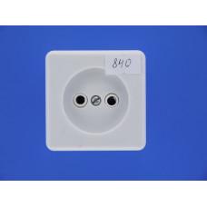 Розетка О/У РА 10-007 квадр. белая с пруж.(карболит) (Ливны)