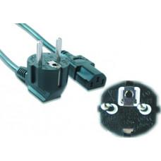Шнур сетевой для компьютера 3pin VDE 5,0м (толстый провод) PC-186-VDE-5,0